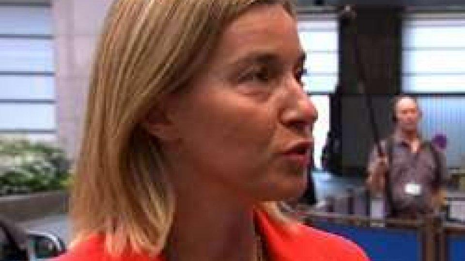 """Federica MogheriniBruxelles condanna la Turchia: """"Con pena di morte, niente Europa"""""""