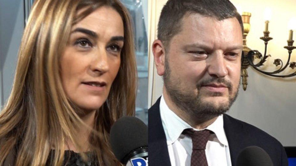 Sara De Angelis e Gennaro MiglioreCaos targhe straniere, sempre più deputati in Italia promettono attenzione su San Marino
