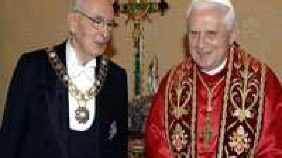 Il Papa saluterà Napolitano e Monti in due udienze private