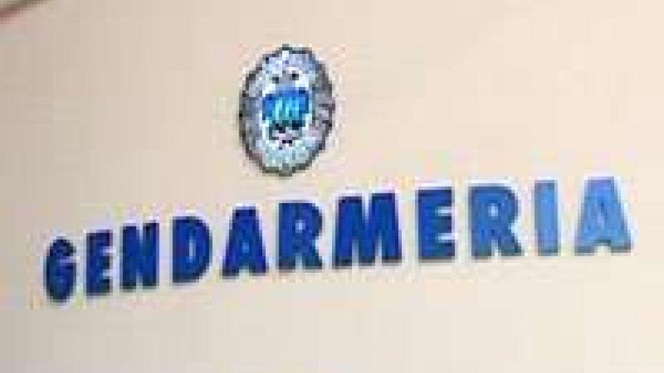 Gendarmeria: rubati 2000 euro tra ditte a attività sammarinesi.