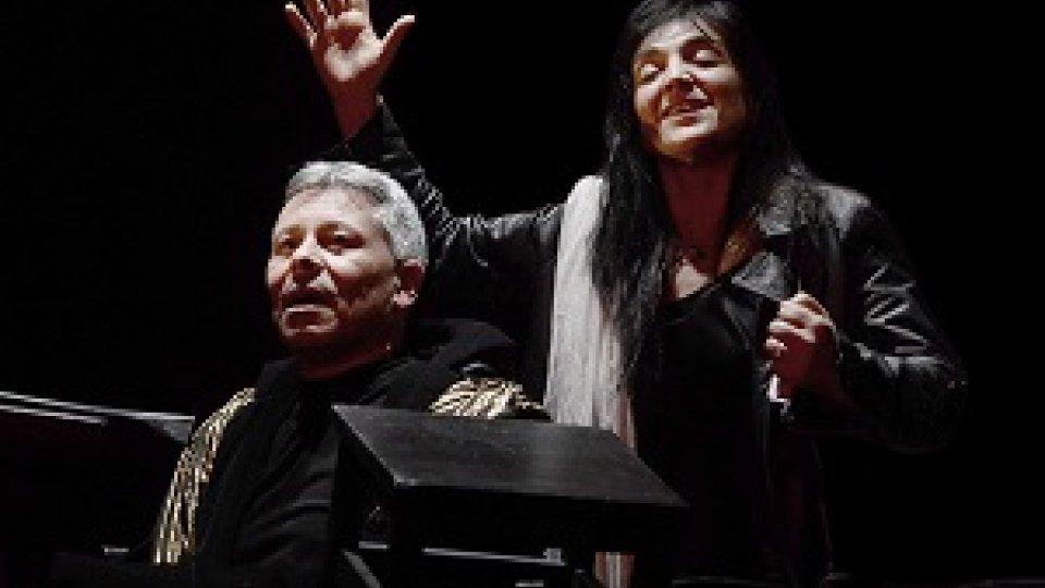 Elena Bucci e Marco Sgrosso in Antigone Quartet Concerto