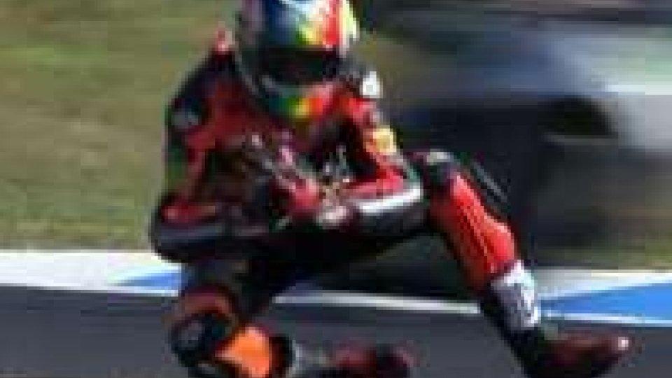 Moto2: brutta caduta per Alex De Angelis