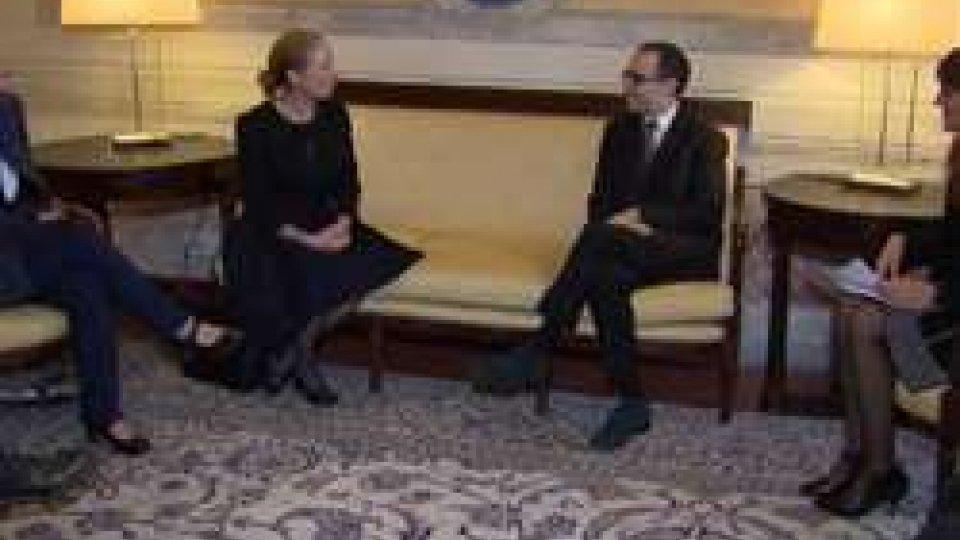 Renzi incontra Kelly DegnanUsa: Renzi incontra l'Incaricato d'Affari dell'Ambasciata americana
