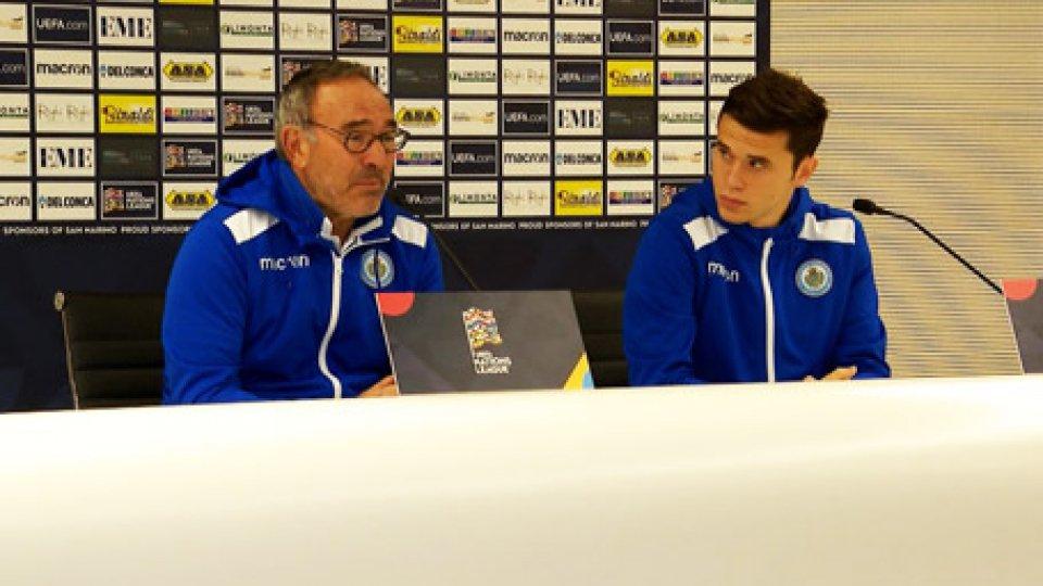 Franco Varella e Andrea GrandoniStasera San Marino-Moldavia: possibile esordio per Nanni