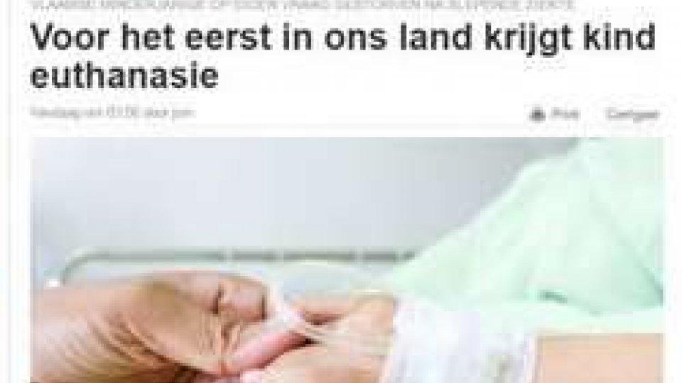 Belgio: primo caso di eutanasia su un minoreBelgio: primo caso di eutanasia su un minore