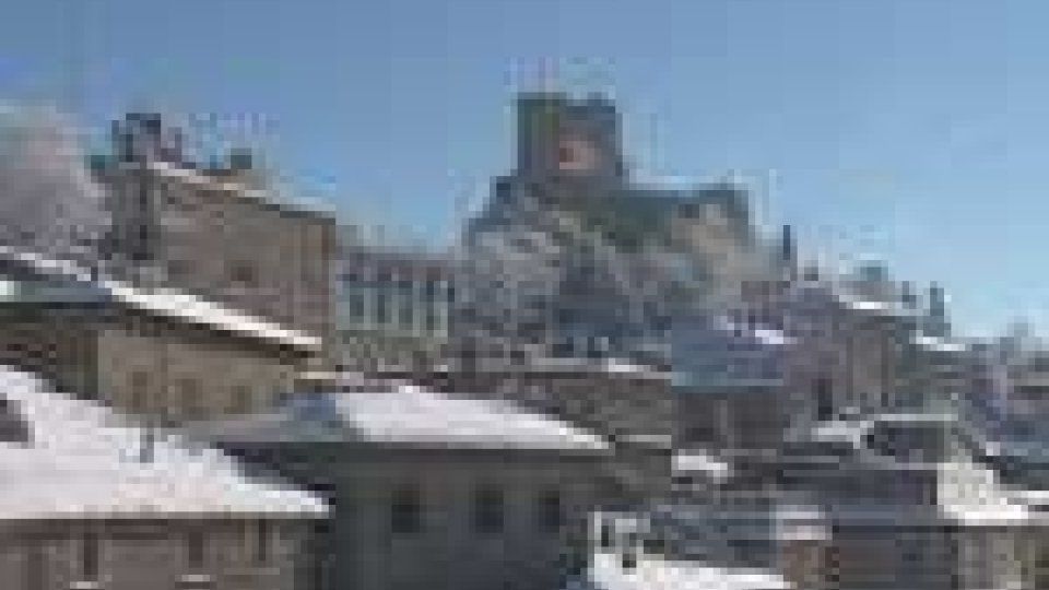 San Marino - E' tregua per la neve a San Marino