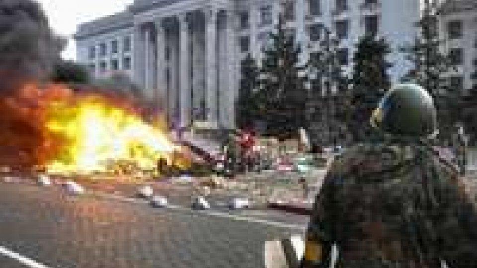 Ucraina: 1 anno fa la strage di OdessaUcraina: un anno fa la strage di Odessa