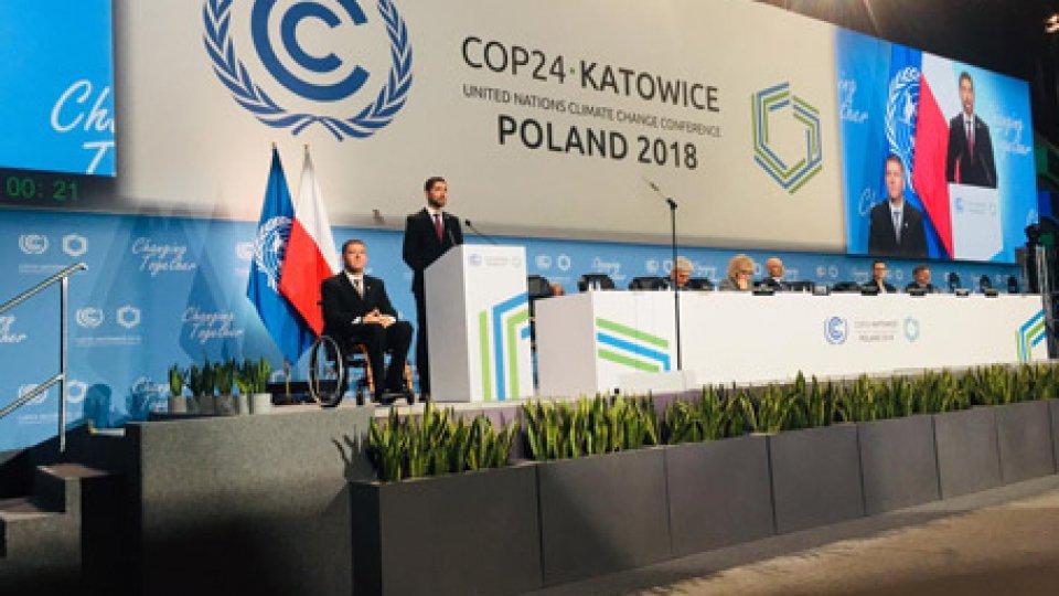 I Capitani Reggenti nel loro interventoPolonia: al summit Onu sul clima i Capi di Stato richiamano alla riduzione emissioni e tutela biodiversità