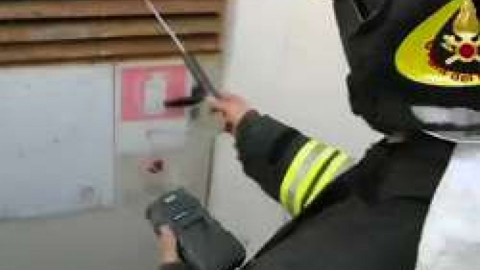 l'intervento di Vigili del fuoco
