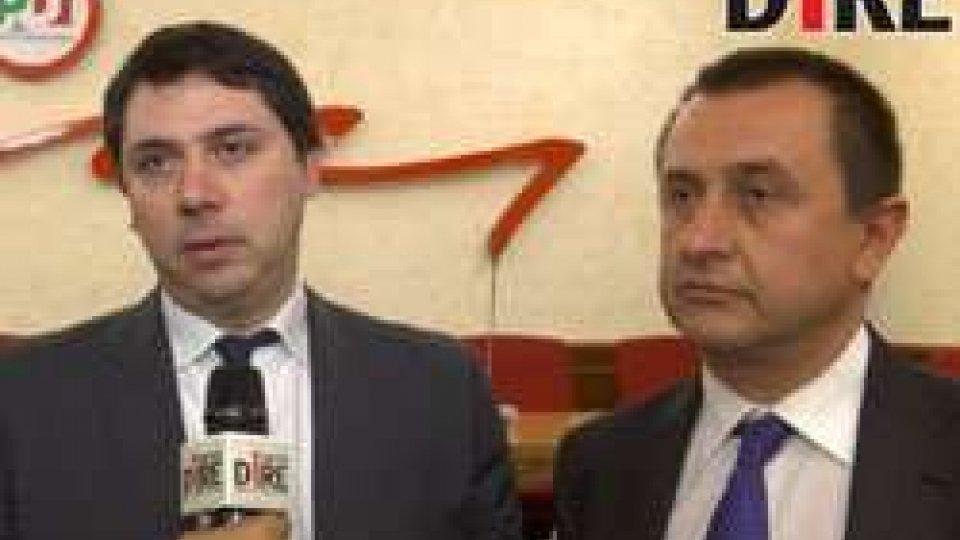 Gerardo Giovagnoli e Ettore RosatoRoma, il capogruppo Psd Giovagnoli incontra Rosato del PD