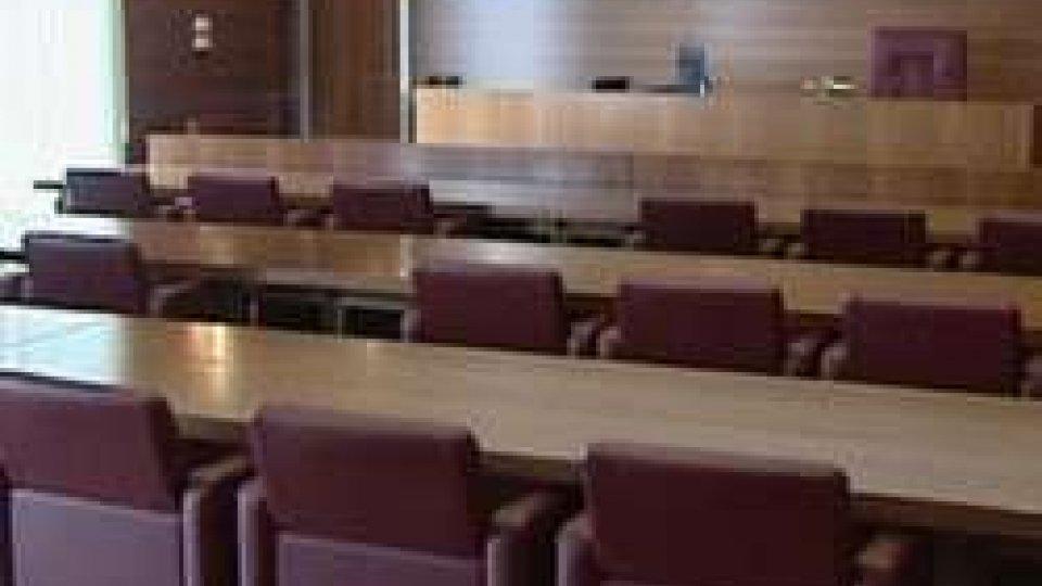 L'aula del tribunale sammarinese