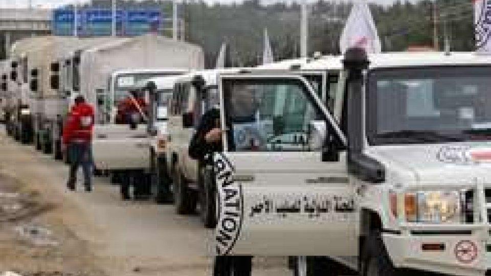 Convoglio umanitario (foto Agi)