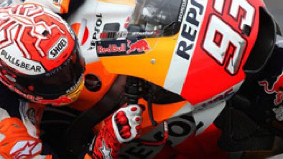 MotoGP Austria: Marquez il più veloce sotto la pioggia
