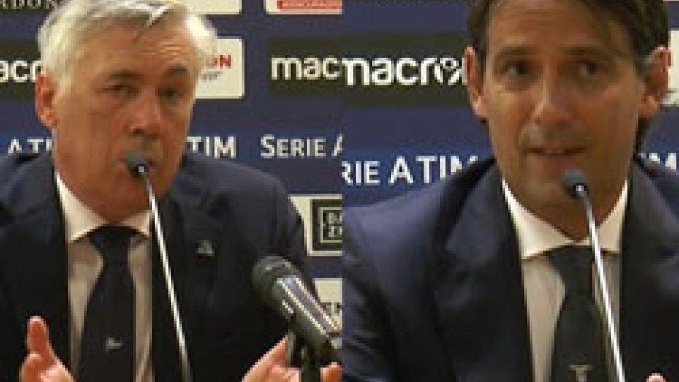 Ancellotti  - InzaghiLazio - Napoli 1-2