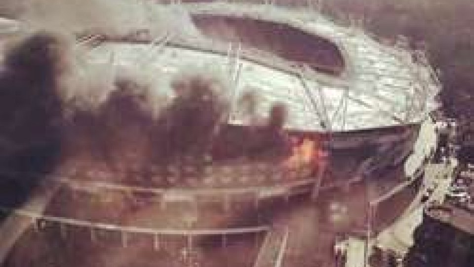 Incendio all'Hongkou Stadium di Shanghai