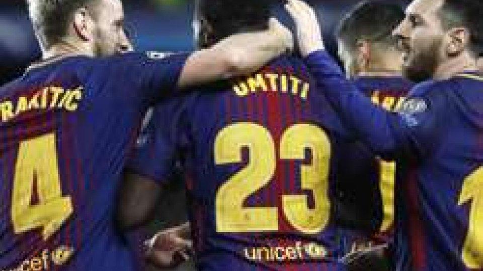 Il Barcellona. Foto ansa