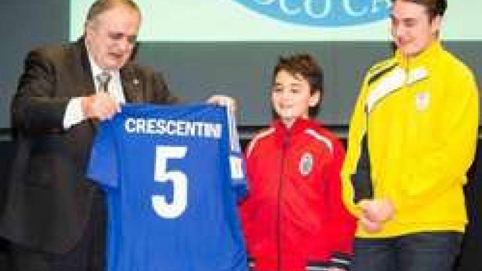 La consegna della maglia numero 5Festa del Calcio: una serata speciale per Giorgio Crescentini