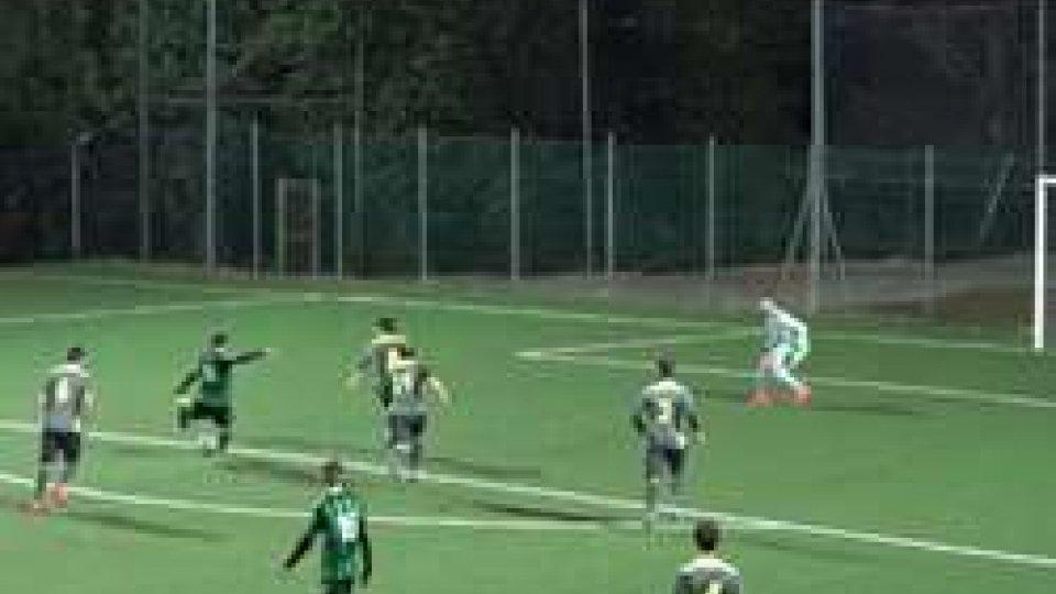 Il gol del 5-1 di Armando Aruci.Virtus, i Play-off una formalità: Aruci schianta la Juvenes/Dogana