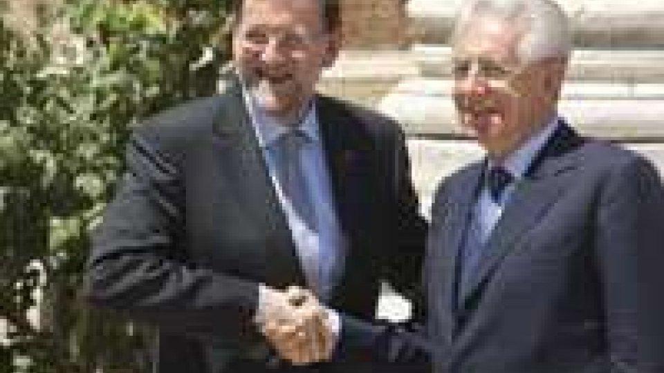 Monti - Rajoy: c'è sintonia sugli strumenti da adottare