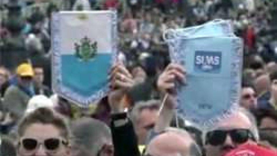 Sums in udienza da Papa FrancescoSums in udienza da Papa Francesco: in dono un calice da San Marino