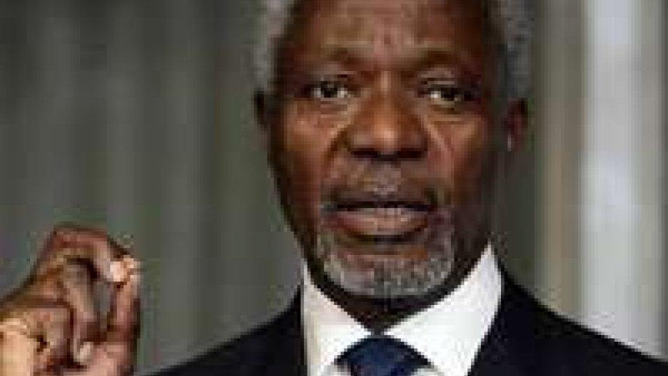 """Siria. Kofi Annan: """"Momento cruciale per la stabilizzazione del Paese"""""""