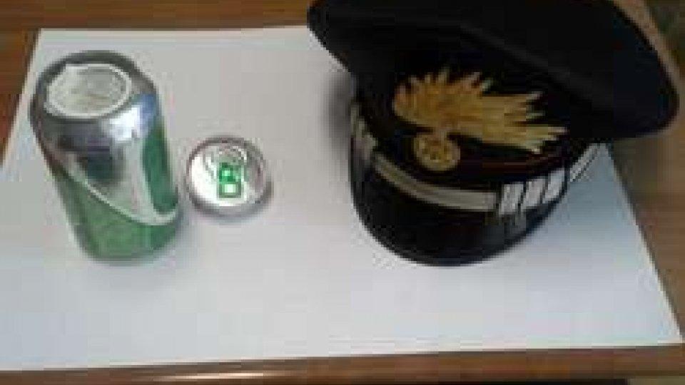 Riccione: Carabinieri scoprono marijuana in lattina di birra