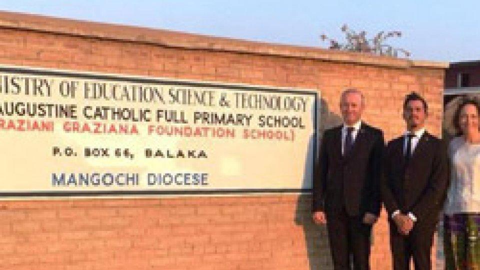 Gli Ecc.mi Capitani Reggenti hanno inaugurato la scuola dedicata a Graziani Graziana in Malawi