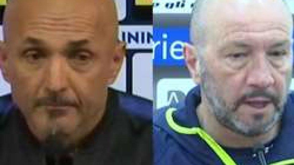 Luciano Spalletti e Walter ZengaSerie A: in serata Inter - Crotone, la partita di Zenga