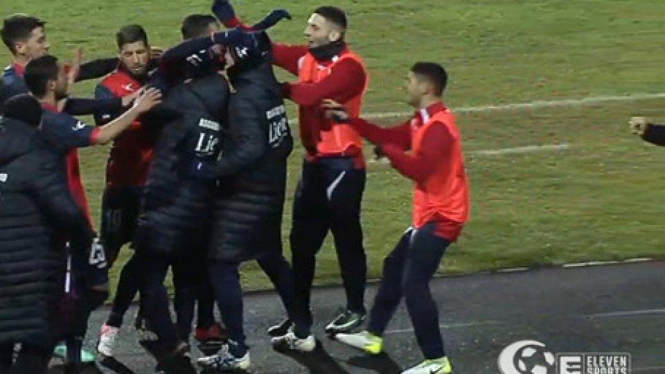 Gubbio - Vis Pesaro 1-0Chinellato subito decisivo. Gubbio batte Vis Pesaro 1-0