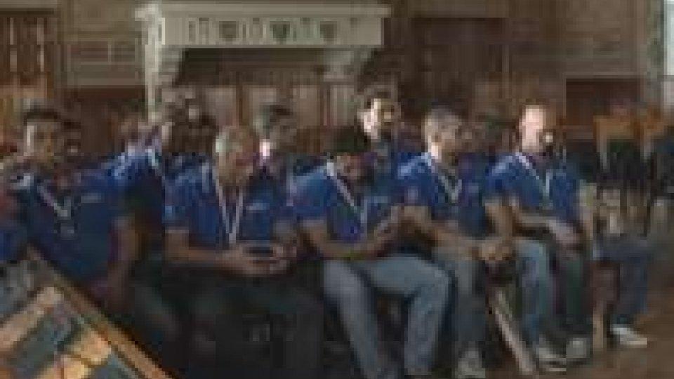 I campioni d'Italia della T&A ricevuti dai Capitani ReggentiI campioni d'Italia della T&A ricevuti dai capitani reggenti
