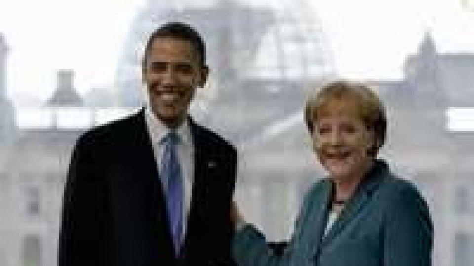 Colloqui Merkel-Obama