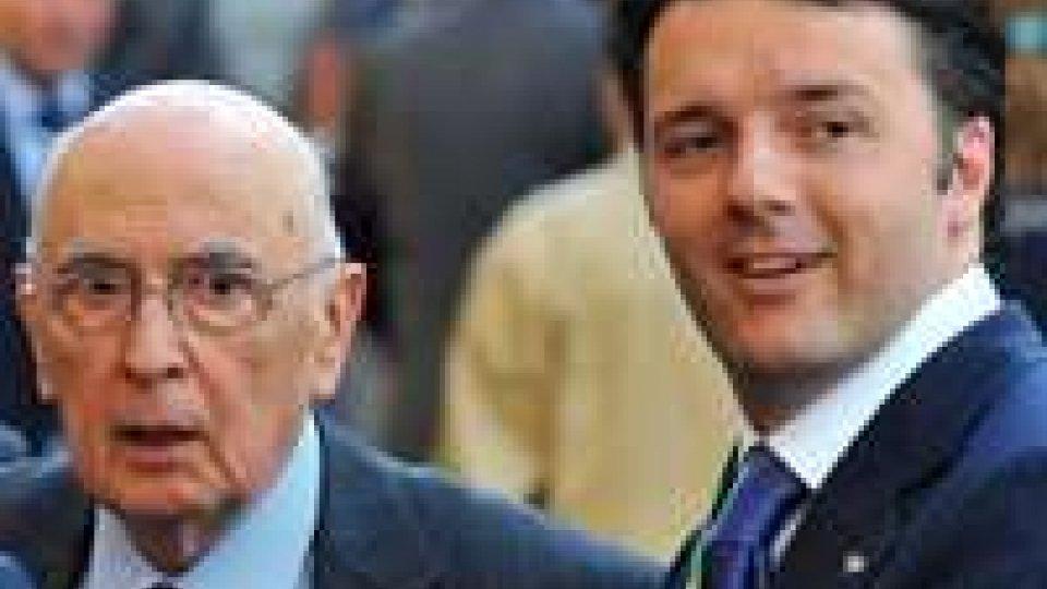 """Napolitano replica a Renzi: """"non stiamo perdendo tempo"""""""