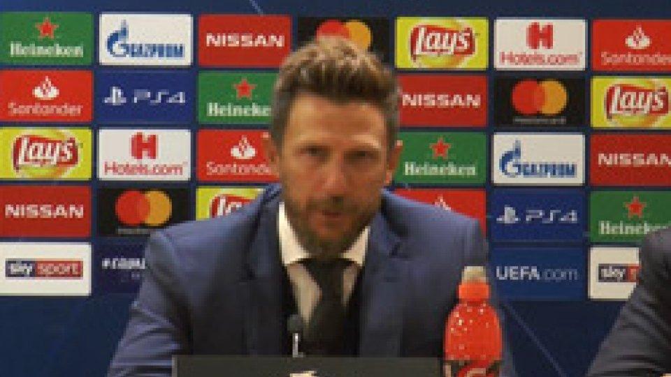 Eusebio Di FrancescoChampions: Roma in testa al girone, Di Francesco però si arrabbia