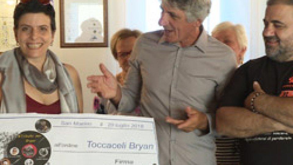 6.000 euro alla famiglia dall'iniziaitiva #tributoperBryanBryan Toccaceli: 6.000 euro alla famiglia dall'iniziativa #tributoperBryan