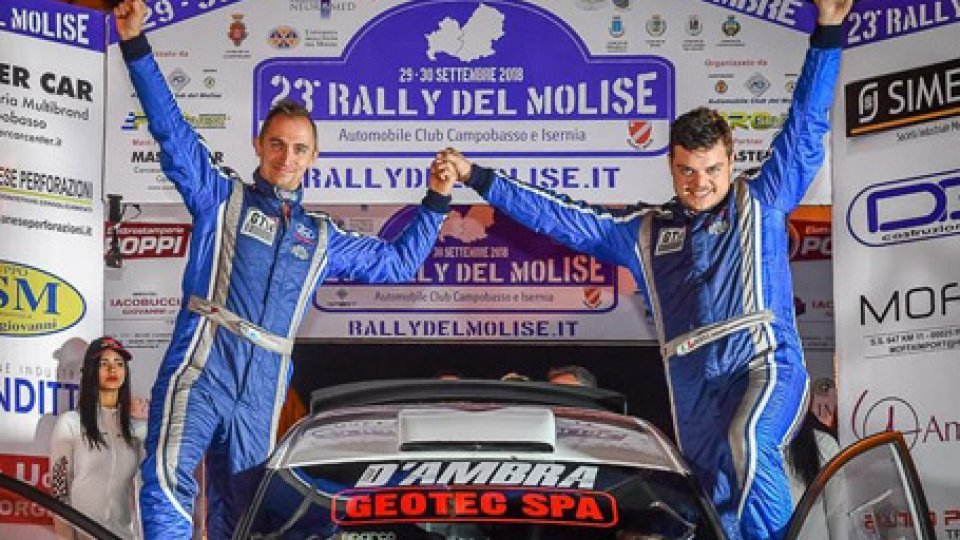 Rally del Molise: Bizzocchi dedica la vittoria a Bryan Toccaceli