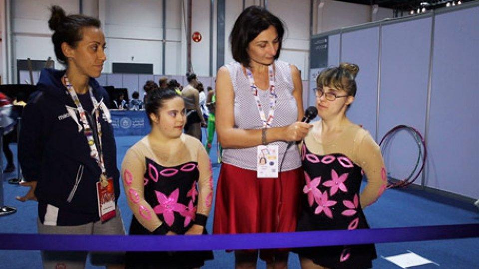 Michela Angeli e Marianna Pruccoli assieme a Elisabetta NorziSpecial Olympics World Games: si entra nel vivo delle gare