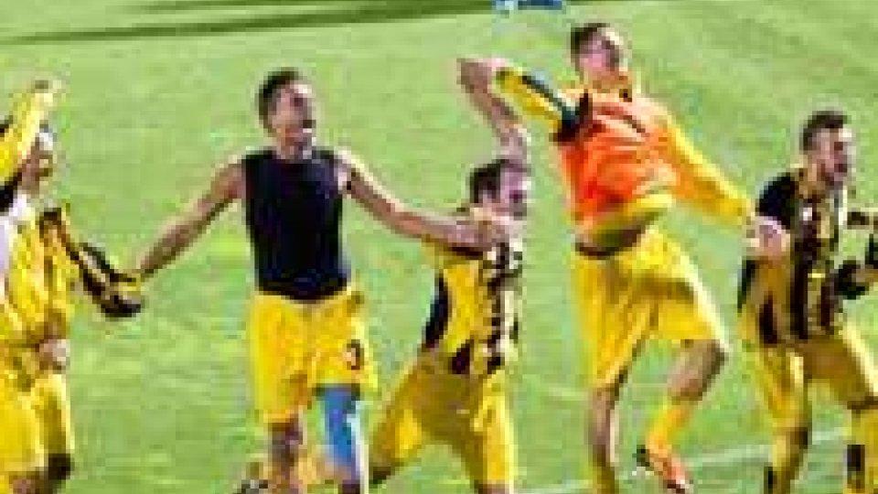 Delirio Fiorita: Pensalfini e Gualtieri firmano i gol scudetto.Campionato Sammarinese: scudetto e qualificazione Champions per La Fiorita