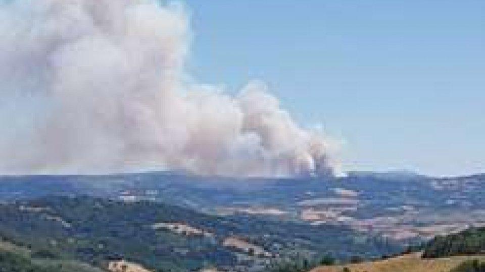 Incendio UrbinoIncendio nei boschi di Urbino
