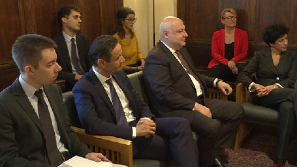 La delegazione OsceSan Marino: l'Osce si confronta con Capitani Reggenti e Segretario Esteri