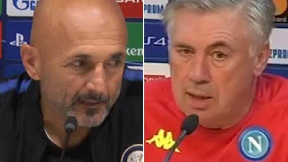 Spalletti e AncelottiChampions: Inter e Napoli, con Barça e PSG è l'ora della verità