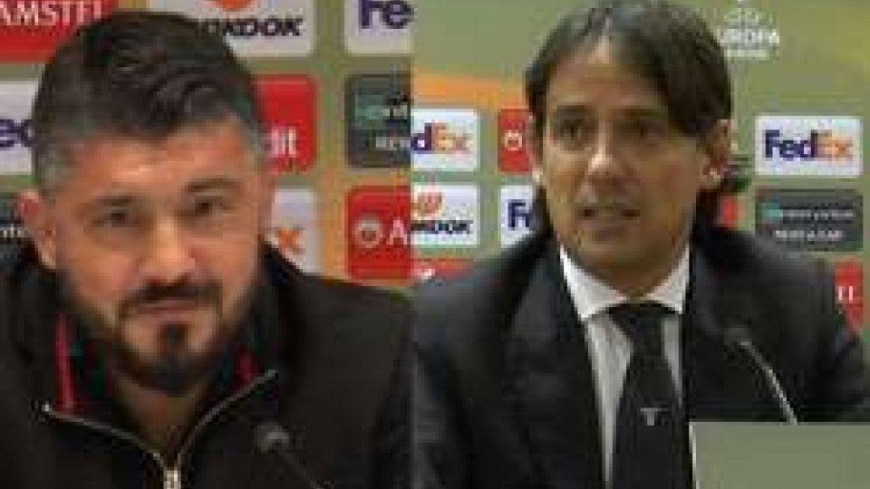 Gattuso e InzaghiEuropa League: le parole di Gattuso e Inzaghi