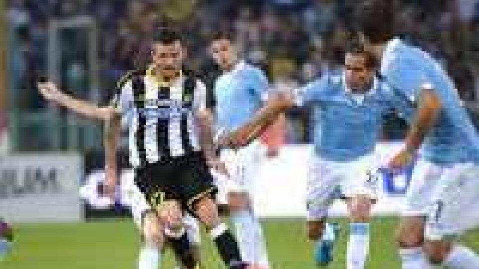 Serie A: l'Udinese batte la Lazio all'Olimpico