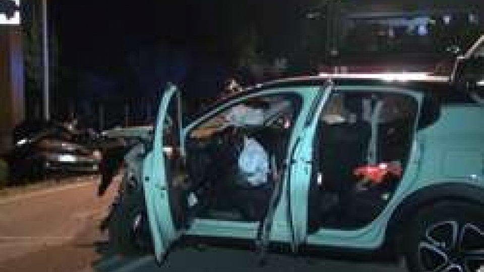 Le macchine incidentateFrontale sulla Marecchiese, tre auto coinvolte e 4 feriti [IMMAGINI]