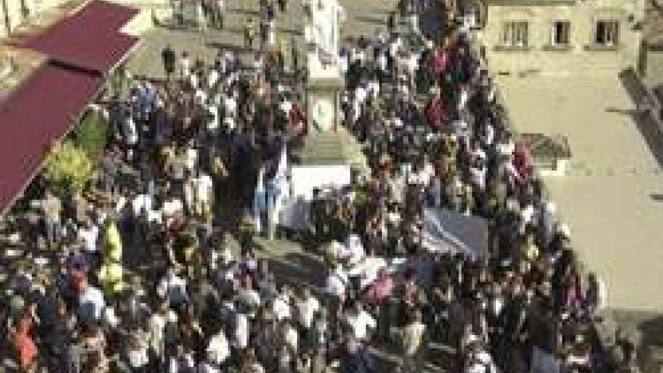 Piazza della LibertàSan Marino: il giorno della protesta sul Pianello
