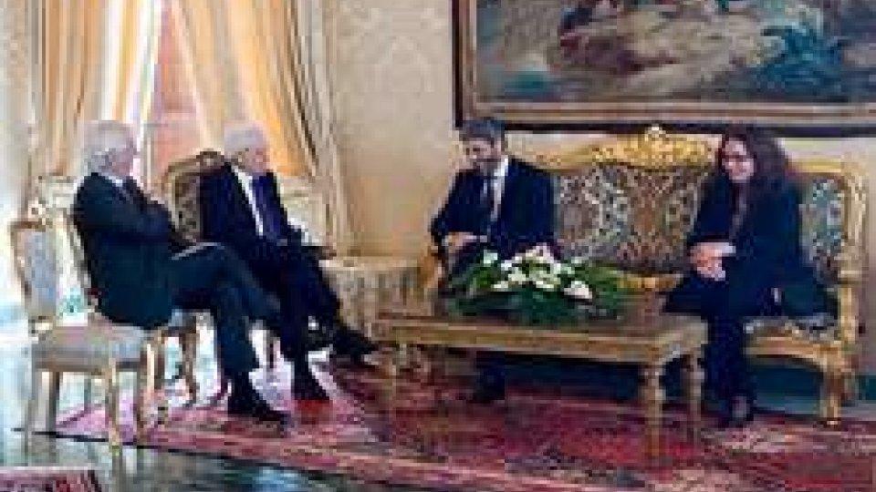 """Roberto Fico al QuirinaleIl presidente della Camera Fico al presidente Mattarella: """"Dialogo tra M5S e Pd avviato"""""""