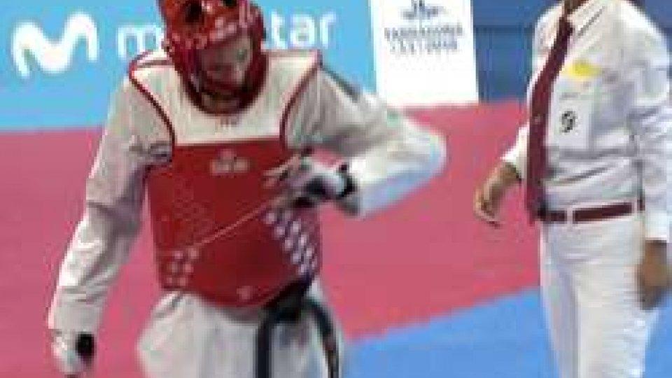 Michele Ceccaroni dopo l'infortunioTarragona, un infortunio frena Ceccaroni nel Taekwondo