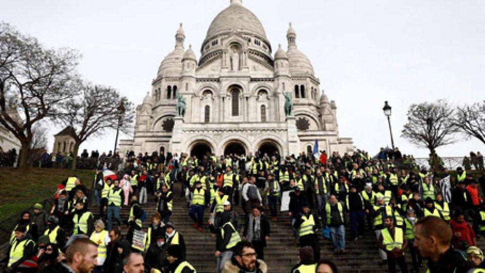 Il corteoGilet gialli: corteo a sorpresa a Montmartre