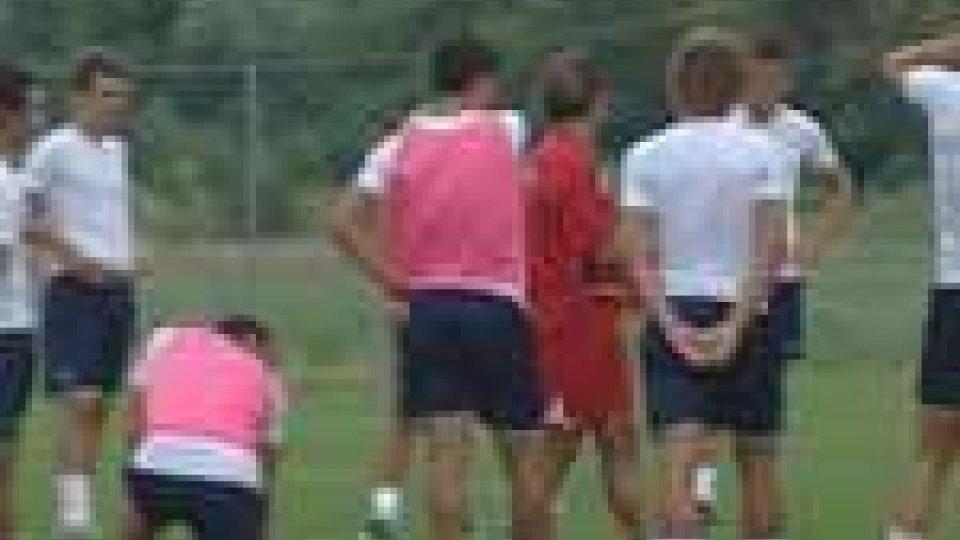 Allenamento del San MarinoCalcio: San Marino termina il ritiro e pensa alla Coppa