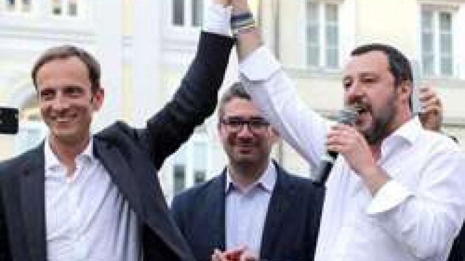 Massimiliano Fedriga e Matteo Salvini. Foto Ansa