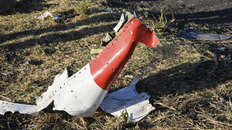 Resti dell'aereo precipitato. @ansa